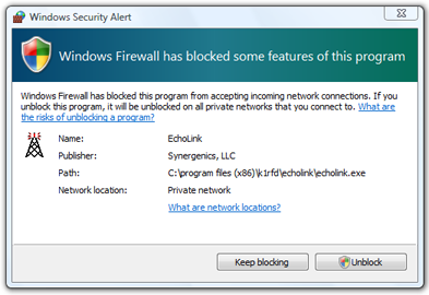 how to unblock a program on windows 7